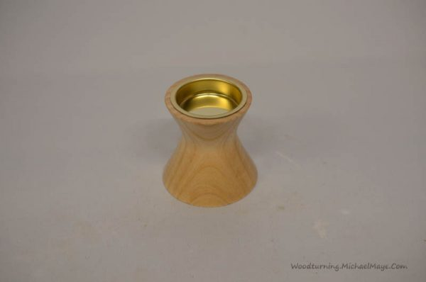 Ash tea light holder concave shape