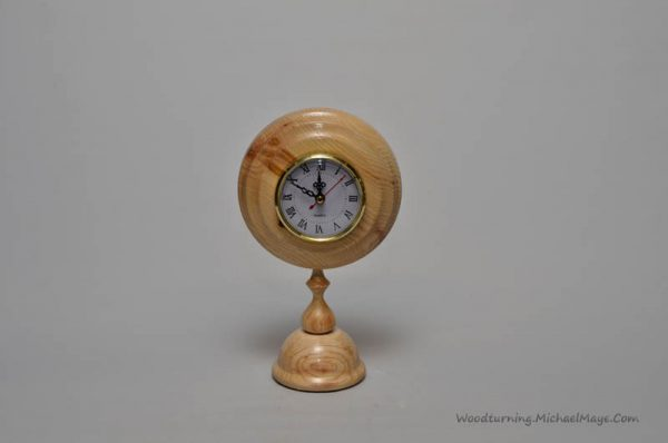 Ash pedestal clock