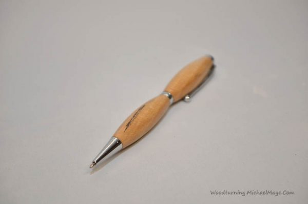 Beech fancy slimline chrome pen