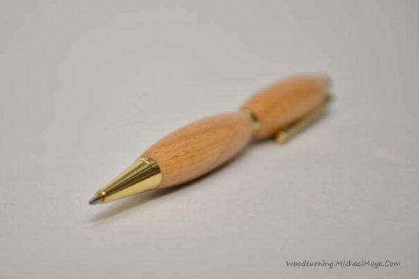 beech slimline gold pen