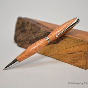 mahogany fancy slimline chrome pen