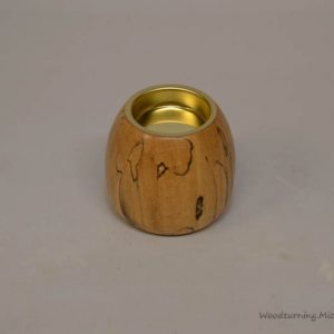 Spalted Beech tea light holder oval shape