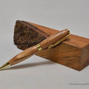 Walnut streamline gold pen