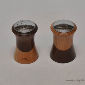 Salt and pepper shakers half & half