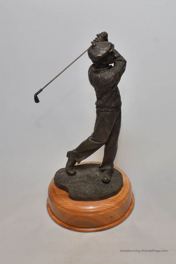 Elm trophy plinth base