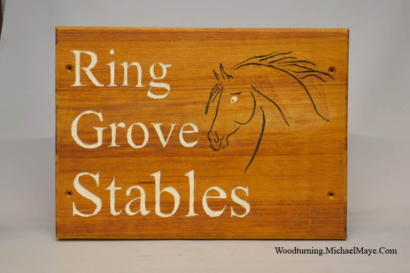 Horse Stables Sign
