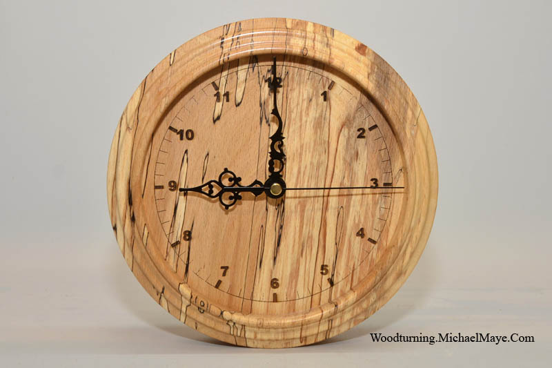 Spalted Beech Wall Clock