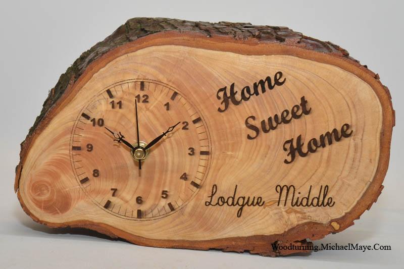 tree slice wall clock