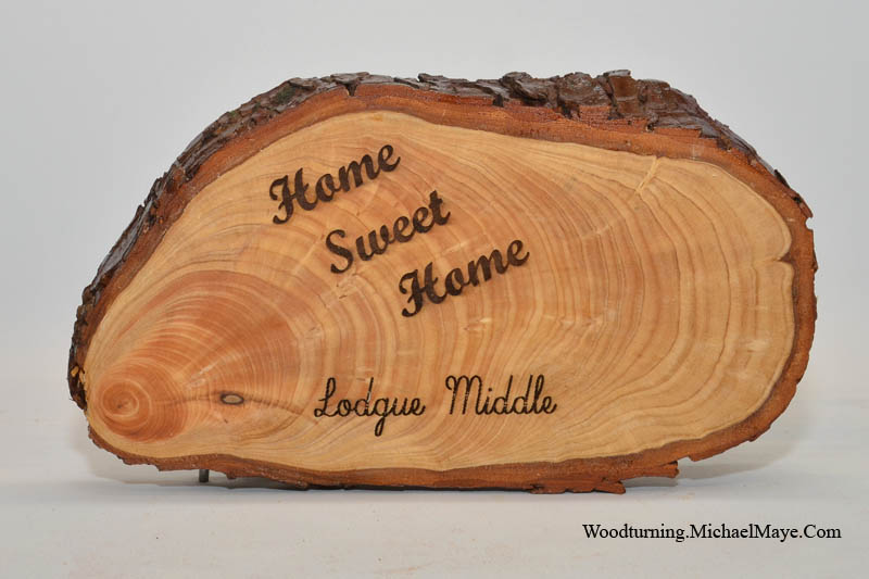 "Tree Slice ""Home Sweet Home"" Sign"