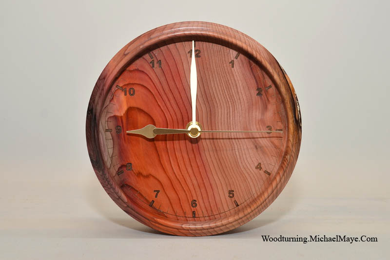Yew Wall Clock