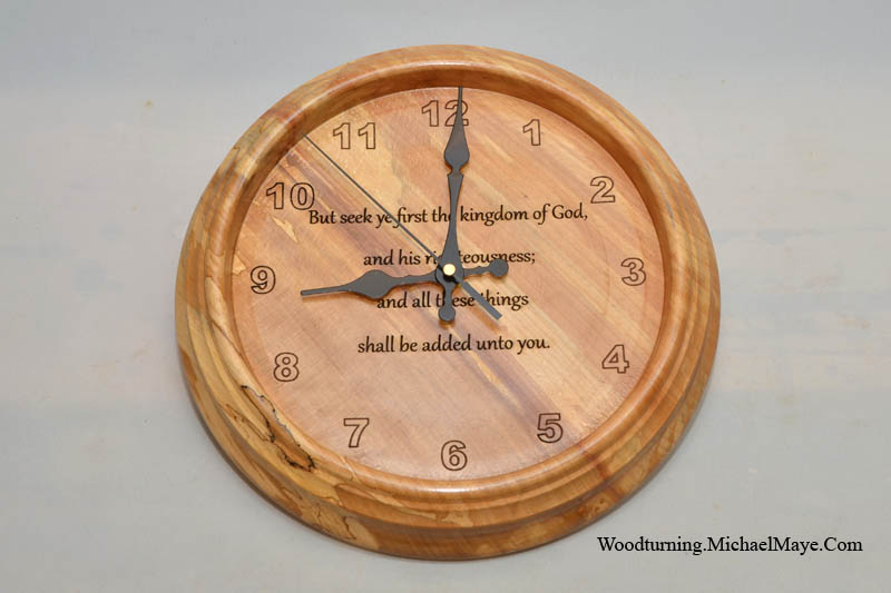 300mm spalted beech wall clock